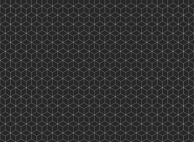 五角形のパターンの背景の要約。