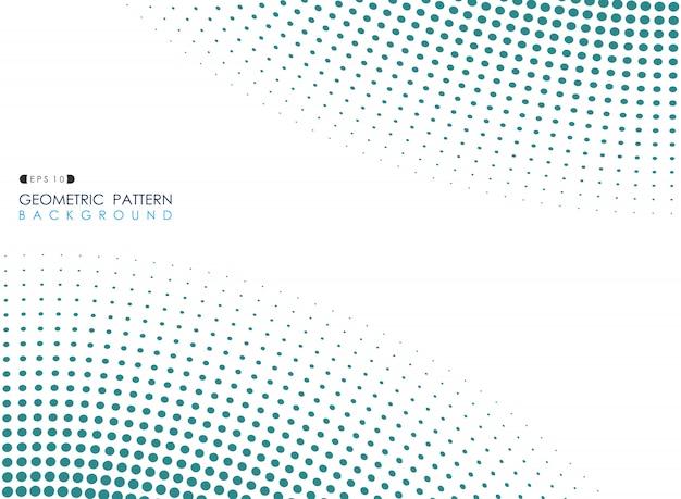 青い丸ドットパターン背景の概要。