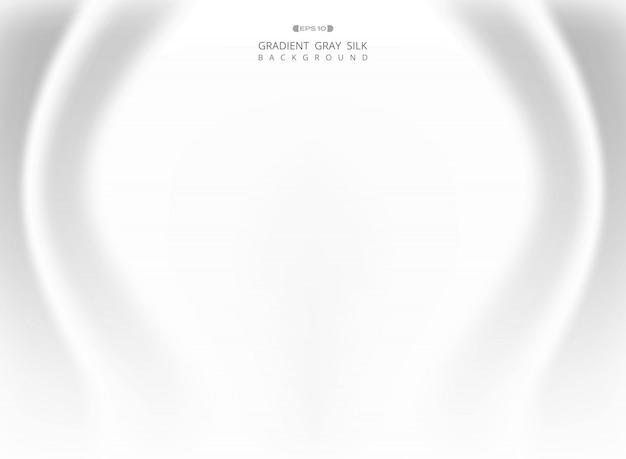 Аннотация градиента белый серый шелковый фон.