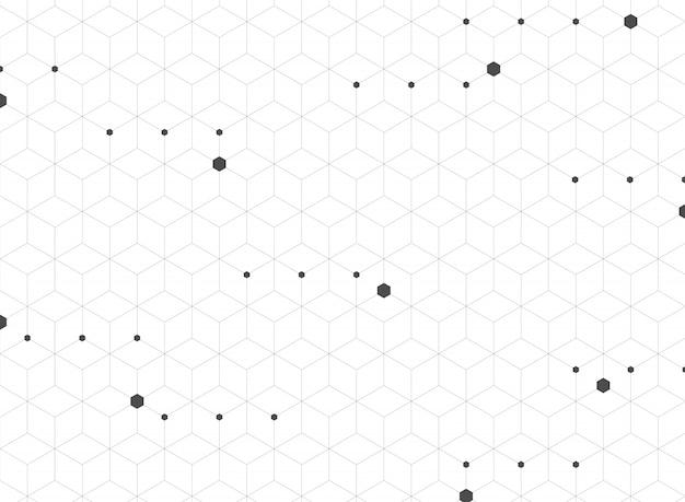 モダンなグレーの五角形のパターンの概要