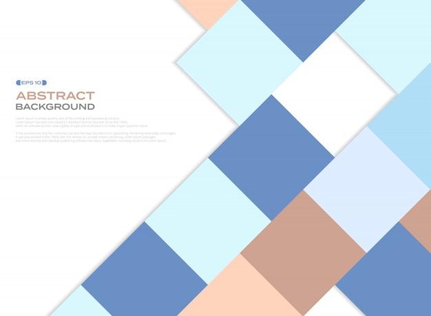 カラフルなビジネスカラートーンホワイトバックグラウンドの正方形パターンカバー。