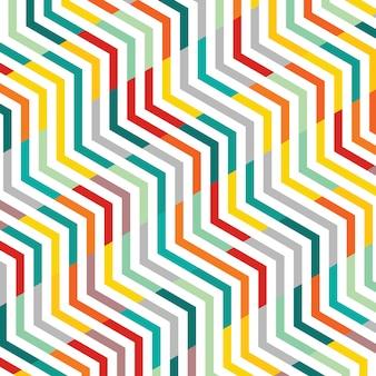 ラインパターンジグザグジグザグ幾何学模様の背景の概要。