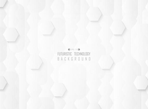 抽象的な未来的なグラデーションホワイトパターン
