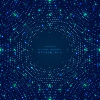 青い正方形パターンの抽象的なビッグデータ