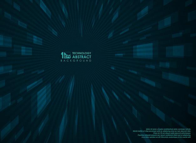 未来的な技術の視点青い背景の幾何学的な。