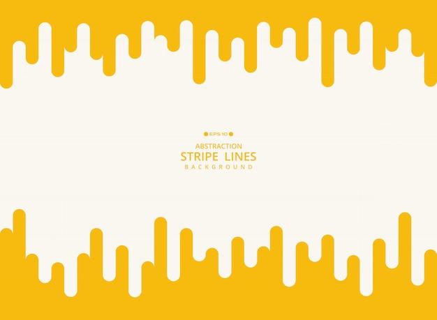 黄色のストライプラインの幾何学模様。