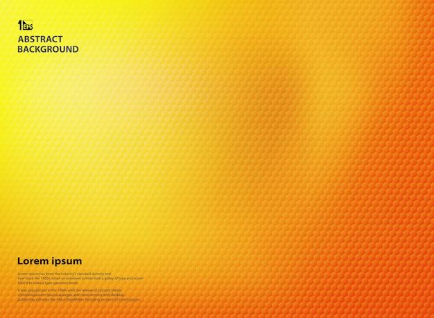 五角形パターンの質感を持つ黄色とオレンジ色。