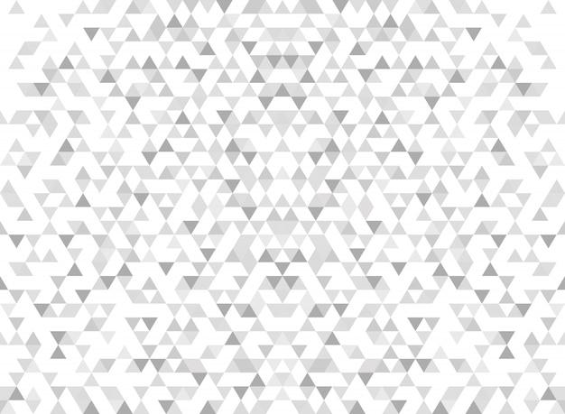 抽象的な現代的な三角形パターングラデーション灰色の背景。