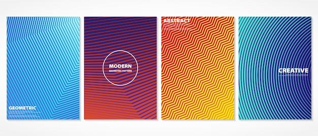 Абстрактный красочный минимальный дизайн шаблона крышек.