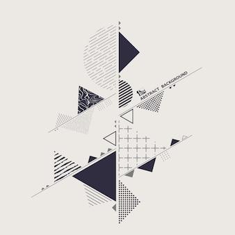 幾何学的抽象化の背景のモダンなスタイリッシュ。