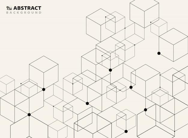 Абстрактный простой черный геометрическая модель фон.