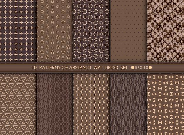 抽象的な古いアールデコパターンの幾何学的デザインの背景。