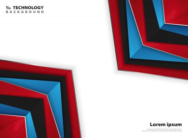 Абстрактная современная страница красный синий белый цвета фона