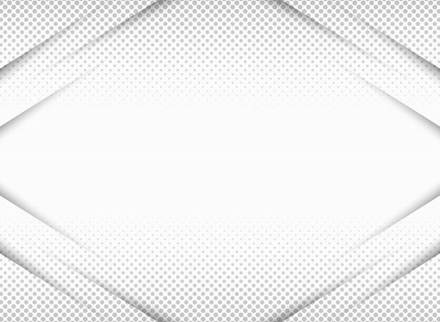対称ハーフトーンパターンでグレーのグラデーションにカットされた紙