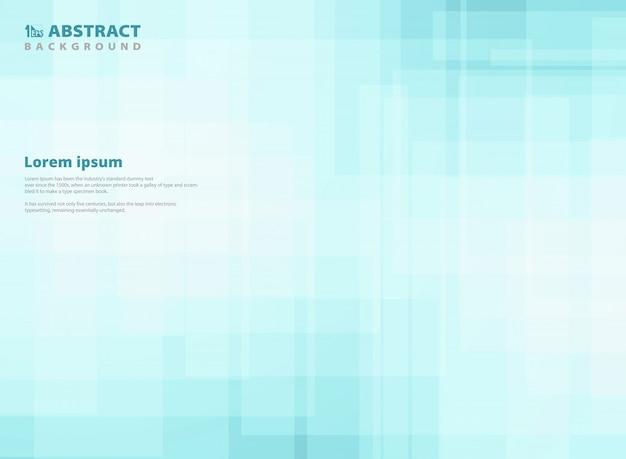 抽象的なグラデーションの青い正方形のパターンの背景。