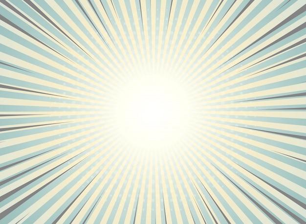 抽象的な太陽バーストハーフトーンパターン設計の背景ヴィンテージ。
