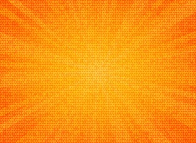 抽象的なサンバーストオレンジ色サークルパターンテクスチャデザインの背景。