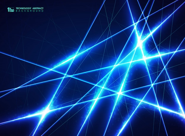 抽象的なブルーテクノロジーの背景