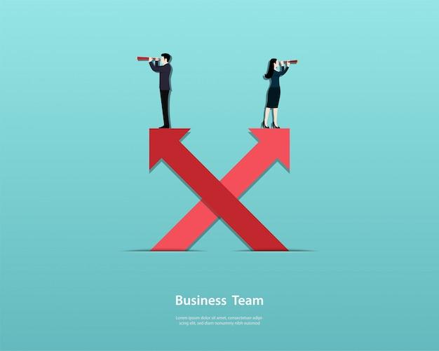 Бизнес команда мужчин и женщин