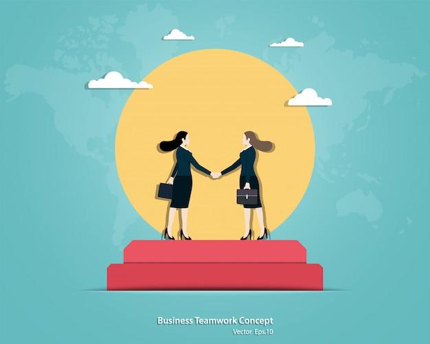 ビジネスの女性の握手