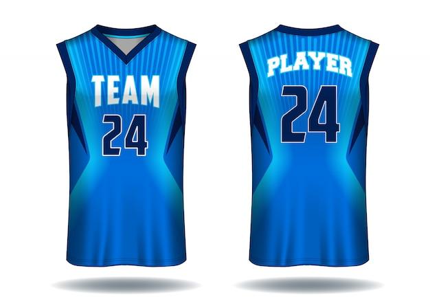 バスケットボールのジャージータンクトップスポーツのイラスト。