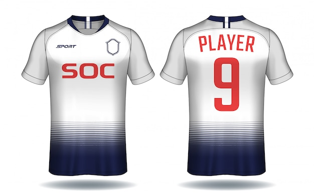 Футболка шаблон. спортивный дизайн футболки.
