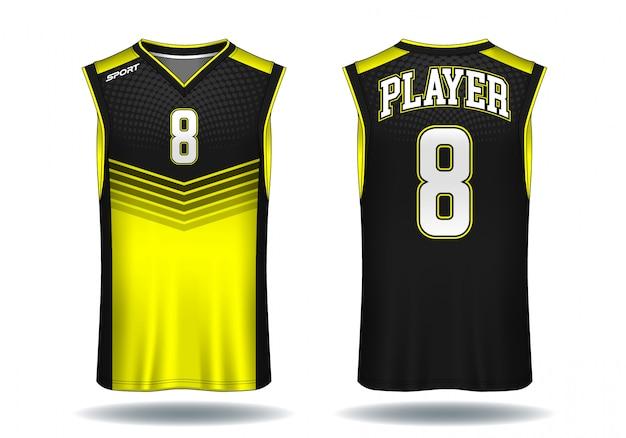バスケットボールジャージ、タンクトップスポーツイラスト。