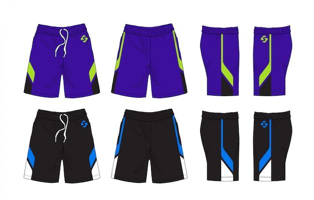 Комплект дизайна спортивных шорт.