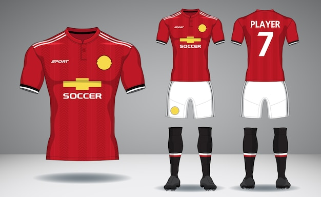 Комплект футбольного комплекта, спортивная футболка.
