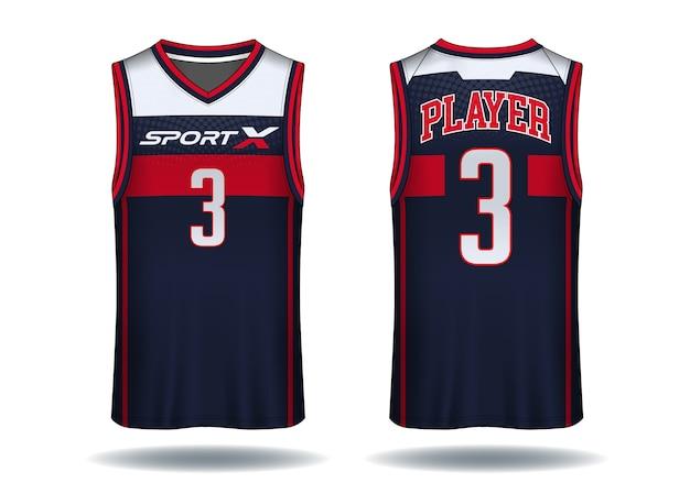 バスケットボールのジャージー、タンクトップスポーツのイラスト。