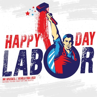 Счастливый баннер «день труда»