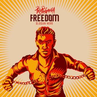 Концепция свободы сломанной наручники