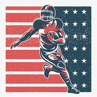 Иллюстрация игрока в американский футбол