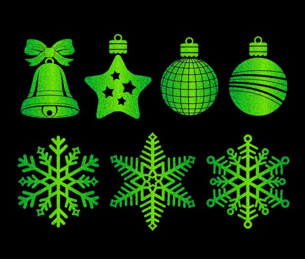 Элемент веселый рождественский и счастливый новый год для украшения
