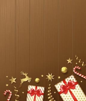 Счастливого рождества и счастливого нового года фон