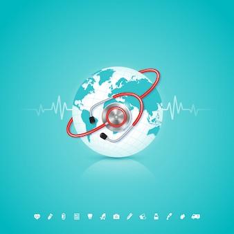 ヘルスケアと医療のための世界保健デーの概念