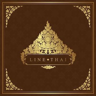 タイの芸術の豪華な寺院と背景パターン