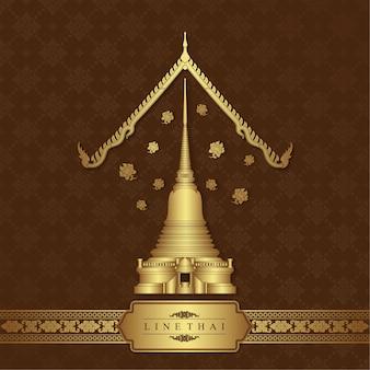タイの芸術寺院の背景