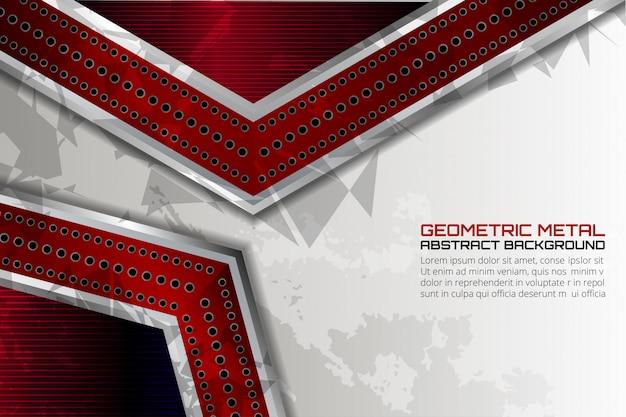 プレゼンテーションのための赤い幾何学的な金属テクスチャ