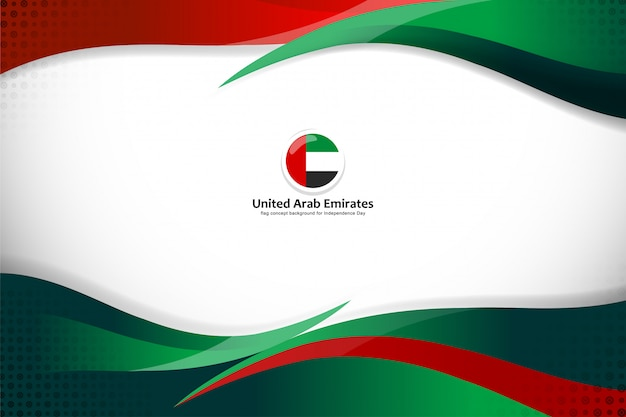 Концепт флага концепции объединенных арабских эмиратов