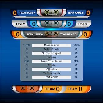 Спортивное табло, трансляция графики и нижних третей