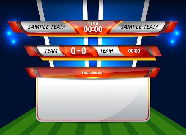 Шаблон нижней трети для спорта и футбола