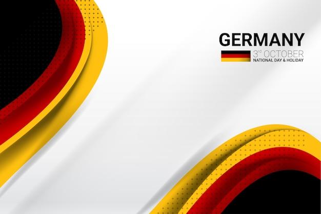 ドイツの旗のコンセプト背景