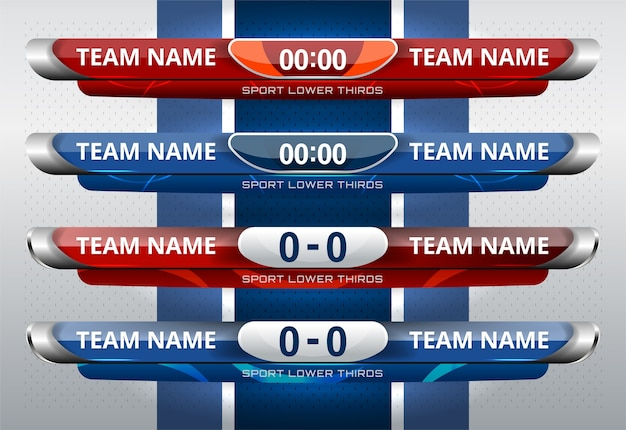 Табло спортивный шаблон для футбола и футбола