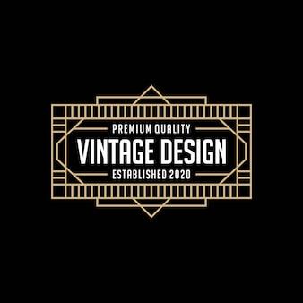 Элегантная рамка старинный логотип дизайн шаблона