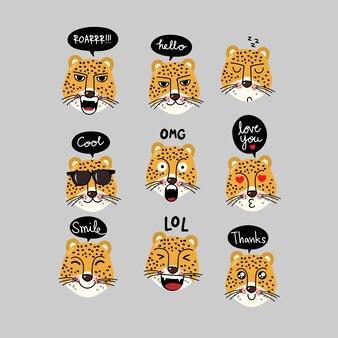 泡のある虎のキャラクター