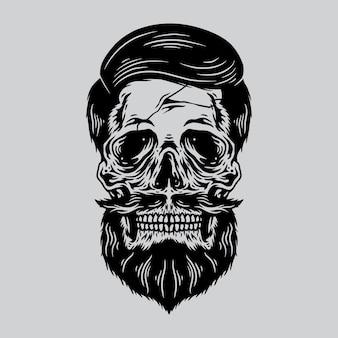 頭蓋骨ひげ