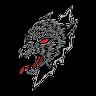 Волк с нуля векторная иллюстрация