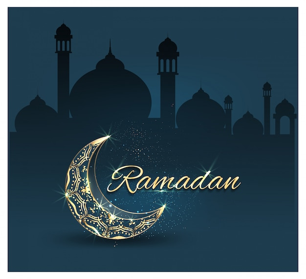 Рамадан карим с богато украшенный