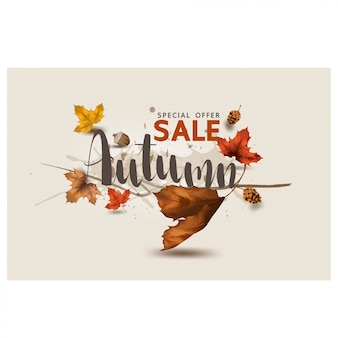 Осенний баннер торговый шаблон благодарения сезонный